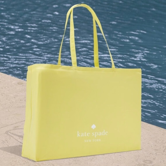 *Kate Spade Yellow Lightweight Canvas Tote